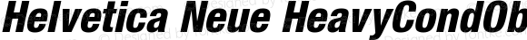 Helvetica Neue HeavyCondObl