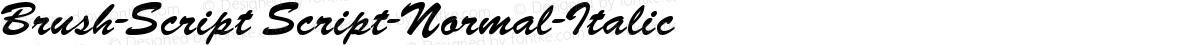 Brush-Script Script-Normal-Italic