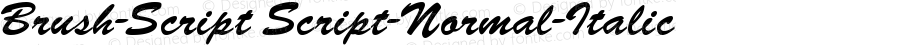 Brush-Script Script-Normal-Italic Version 001.000