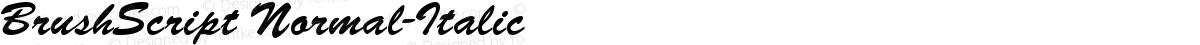 BrushScript Normal-Italic