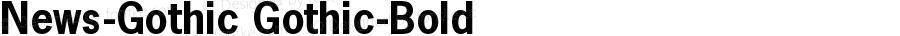 News-Gothic Gothic-Bold Version 001.000