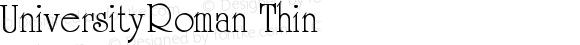 UniversityRoman-Thin
