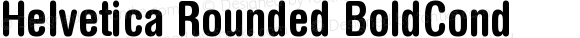 Helvetica Rounded BoldCond