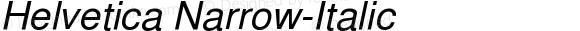 Helvetica Narrow-Italic