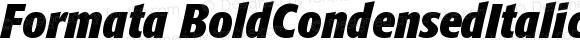 Formata BoldCondensedItalic