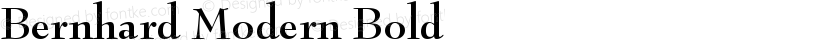 Bernhard Modern Bold Preview Image