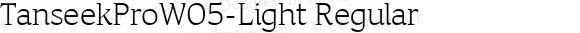 TanseekProW05-Light Regular