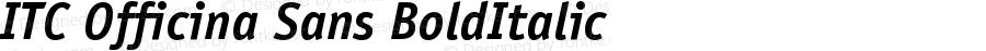 ITC Officina Sans Bold Italic