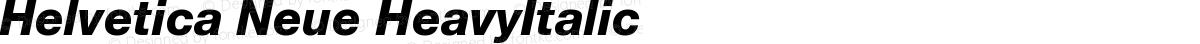 Helvetica Neue HeavyItalic
