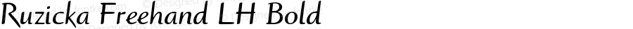 Ruzicka Freehand LH Bold Version 001.001