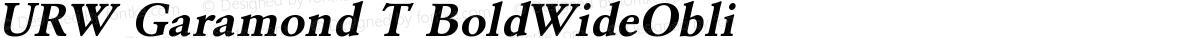 URW Garamond T BoldWideObli