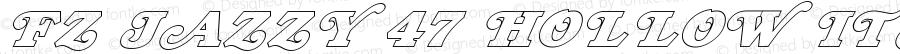 FZ JAZZY 47 HOLLOW ITALIC JAZZY47HOLLOWITALIC Version 1.000