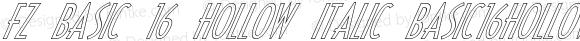 FZ BASIC 16 HOLLOW ITALIC BASIC16HOLLOWITALIC Version 1.000