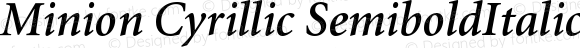 Minion Cyrillic SemiboldItalic