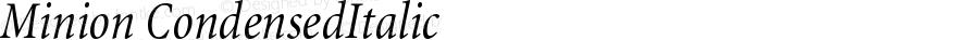 Minion Condensed Italic