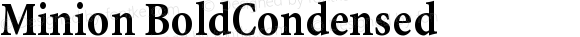 Minion BoldCondensed