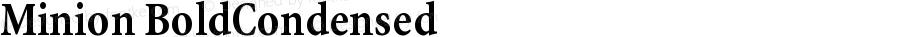 Minion Bold Condensed