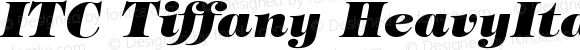 ITC Tiffany HeavyItalic Version 001.002