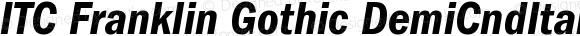 ITC Franklin Gothic Demi Condensed Italic