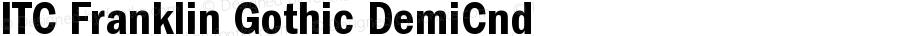 ITC Franklin Gothic Demi Condensed