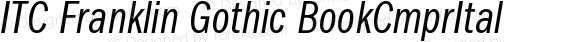 ITC Franklin Gothic Book Compressed Italic