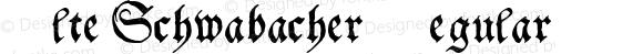 Alte Schwabacher Regular Macromedia Fontographer 4.1 3/7/97