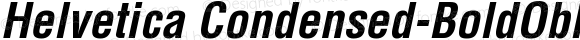 Helvetica Condensed-BoldObl