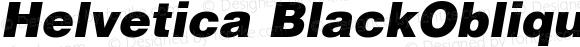 Helvetica BlackOblique