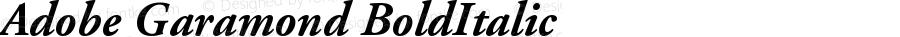 Adobe Garamond Bold Italic