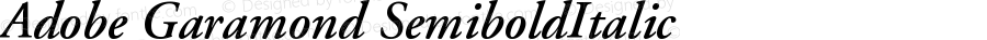 Adobe Garamond Semibold Italic