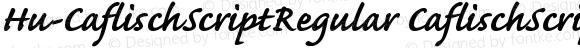 Hu-CaflischScriptRegular CaflischScriptRegular-BoldItalic