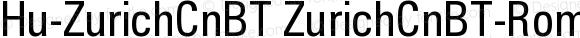 Hu-ZurichCnBT ZurichCnBT-Roman Version 001.000