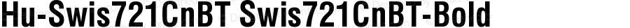Hu-Swis721CnBT Swis721CnBT-Bold Version 001.000
