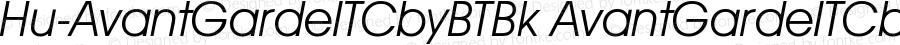 Hu-AvantGardeITCbyBTBk AvantGardeITCbyBTBk-Italic Version 001.000