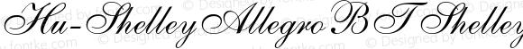 Hu-ShelleyAllegroBT ShelleyAllegroBT-Italic Version 001.000