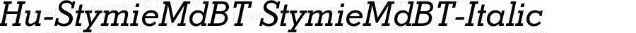 Hu-StymieMdBT StymieMdBT-Italic Version 001.000