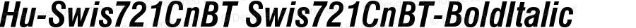 Hu-Swis721CnBT Swis721CnBT-BoldItalic Version 001.000