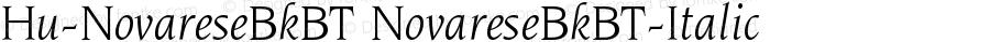 Hu-NovareseBkBT NovareseBkBT-Italic Version 001.000