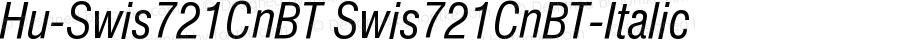 Hu-Swis721CnBT Swis721CnBT-Italic Version 001.000