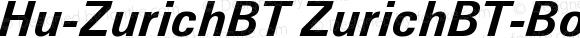 Hu-ZurichBT ZurichBT-BoldItalic Version 001.000
