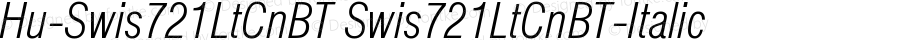 Hu-Swis721LtCnBT Swis721LtCnBT-Italic Version 001.000