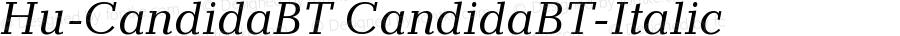 Hu-CandidaBT CandidaBT-Italic Version 001.000