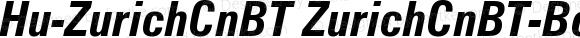 Hu-ZurichCnBT ZurichCnBT-BoldItalic Version 001.000
