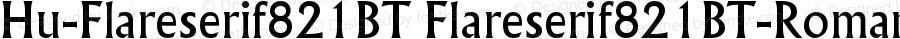 Hu-Flareserif821BT Flareserif821BT-Roman Version 001.000