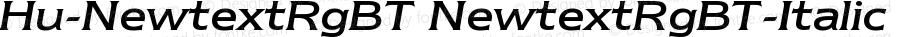 Hu-NewtextRgBT NewtextRgBT-Italic Version 001.000