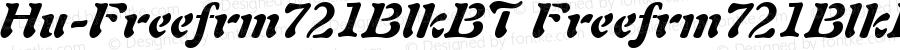 Hu-Freefrm721BlkBT Freefrm721BlkBT-Italic Version 001.000