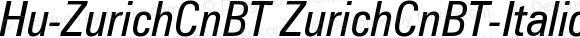 Hu-ZurichCnBT ZurichCnBT-Italic Version 001.000