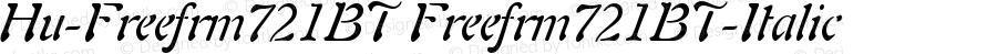 Hu-Freefrm721BT Freefrm721BT-Italic Version 001.000