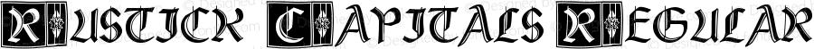 Rustick_Capitals Regular Version 1.0  27.09.99