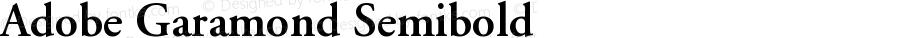 Adobe Garamond Semibold